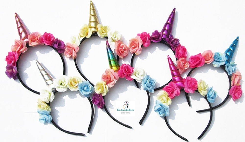 Diademas Flores Y Unicornios - Como-se-hacen-diademas