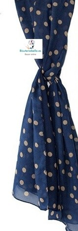 Pañuelos largo de gasa finos y lunares tonos a elegir