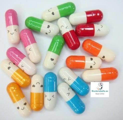 Pildoras Vitaminas para mensaje Kawaii x5