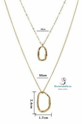 Multi-colgante 2 cadenas doradas a elegir V.1