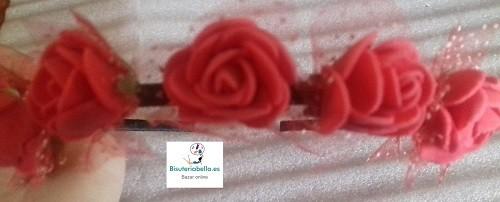 Diademas Rosas color a elegir mas detalles para Bodas