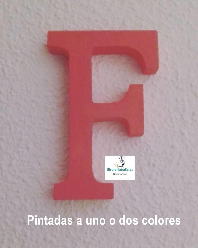 Letras de madera blancas a elegir 8 cm