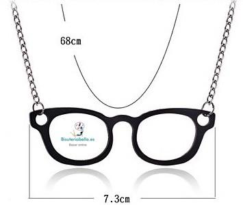 Colgante largo en forma de gafas grandes,tonos a elegir