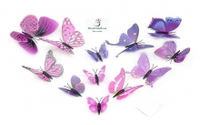 Set 12 Mariposas para decorar tus paredes Tonos a elegir 3D