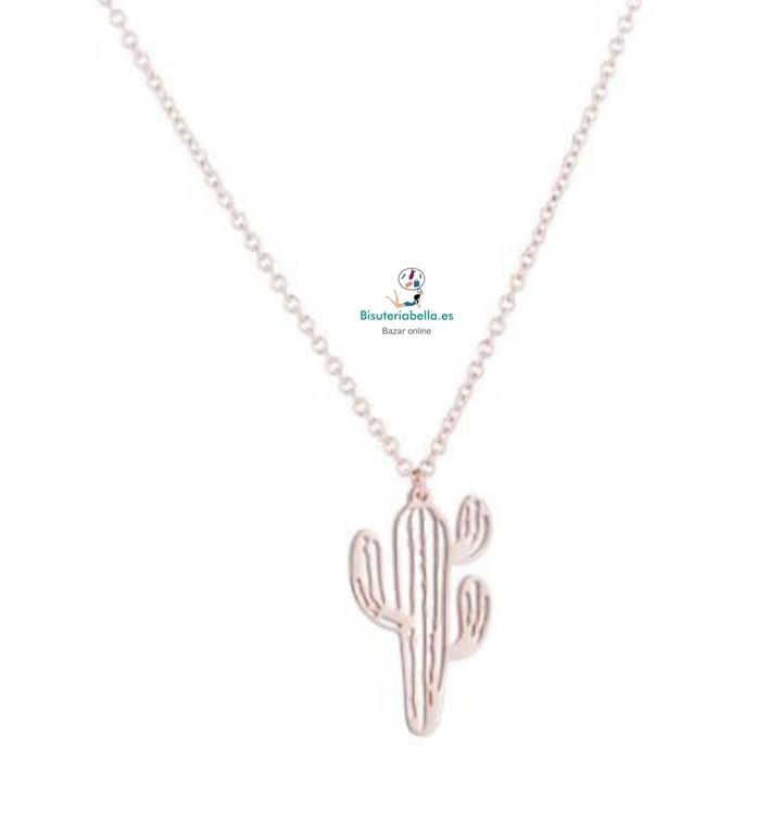 Colgante fino silueta cactus a elegir