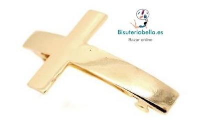 Prendedor en forma de cruz curvado en click