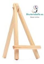 Mini caballete madera claro Bodas y Eventos