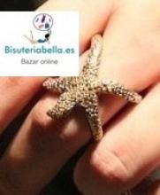 Anillo a elegir tono en forma de estrella de mar T.6