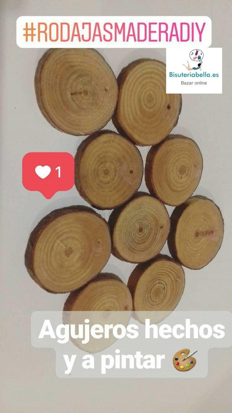 Rodajas pequeñas madera personalizables a mano