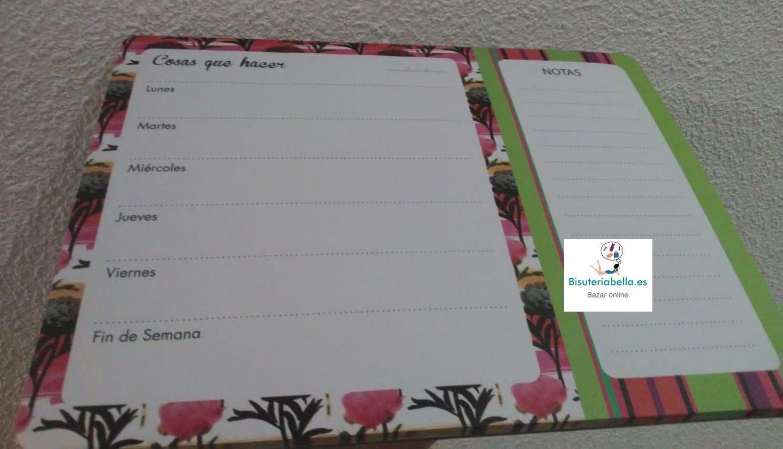 Planificador semanal Floral a elegir