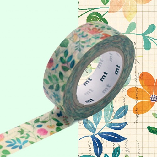 MT Masking Tape Water Color Flower