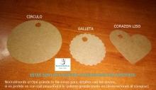 Pack 20 etiquetas craft o cartulina a elegir a mano