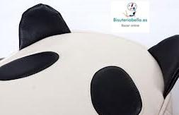 Maxi-Bolso beis y negro  Osito Panda (No es piel animal)Polipiel