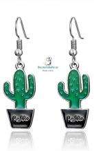 Pendientes plateados Cactus a elegir