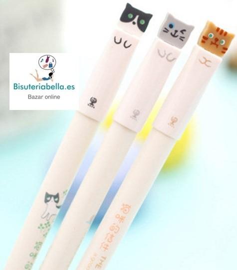 Boligrafos Gatitos Cute Kawaii colores a elegir
