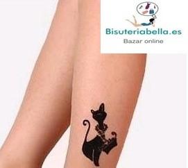 Media transparente Tatto gatita coqueta,colores a elegir