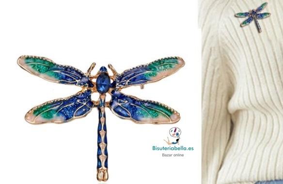 Broche mediano dorado libélula a elegir