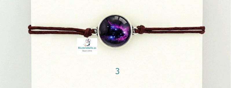 Pulsera Doble Cordon Camafeo Nebulosa a elegir Galaxia