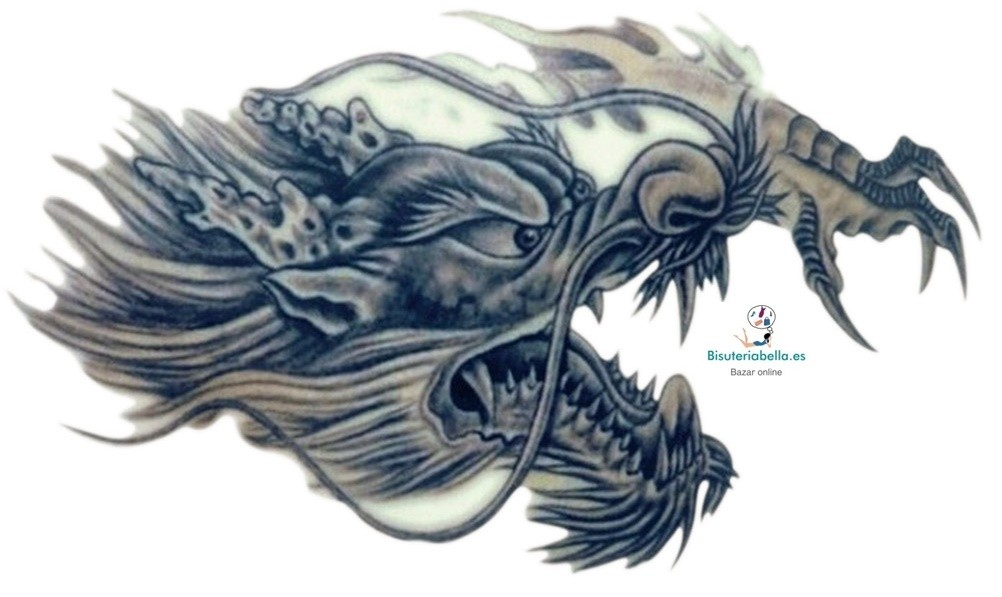Maxi Tatuaje Dragon Temporal Negro