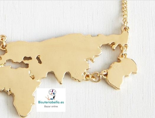 Colgante Mapa del Mundo silueta