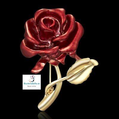 Broche Rosa encarnada a elegir