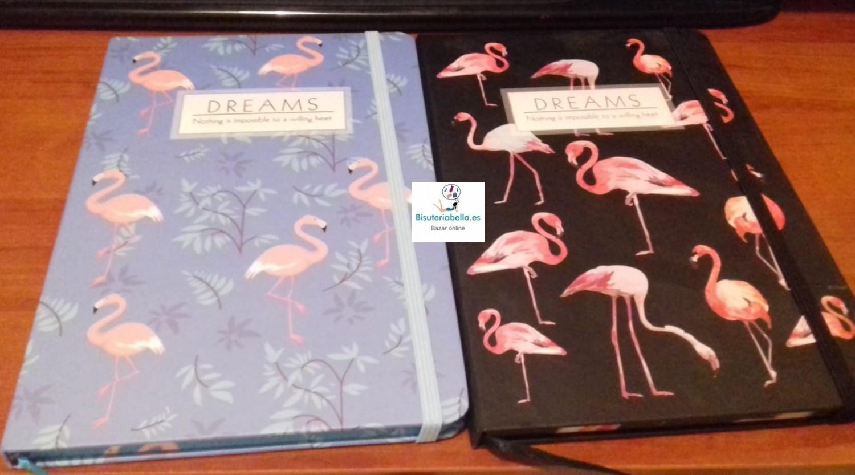 Libreta mediana Flamencos ''Dreams'' a elegir