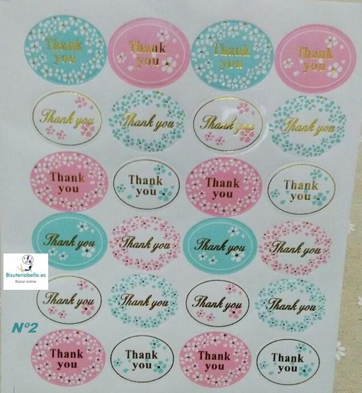 1 hoja Pegatinas para Eventos ''Thank You''