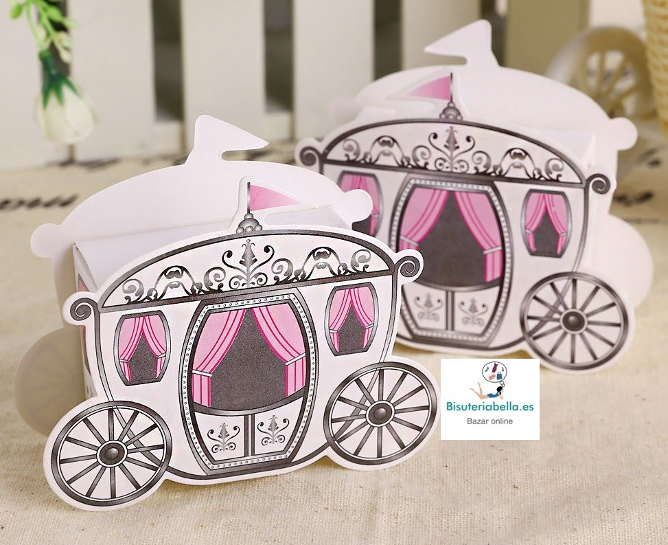 Caja carroza novios para regalo invitados