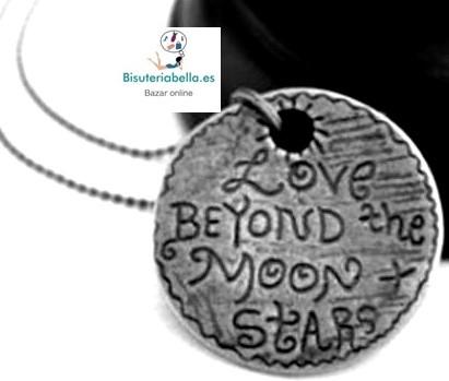 Colgante mediano Medalla redonda Letras de amor