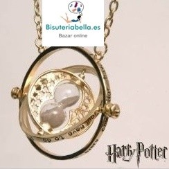 Colgante dorado Harry Potter Giratiempos ,Hermione