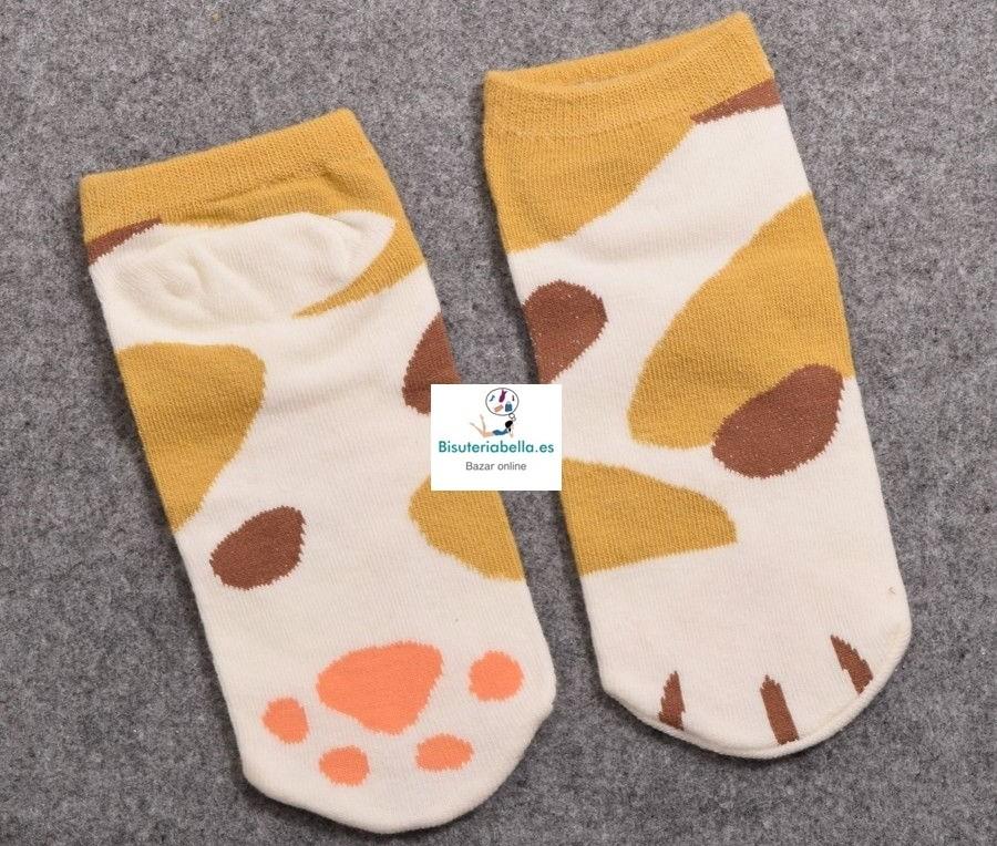 Calcetines rallas gatitos y patitas a elegir Kawaii
