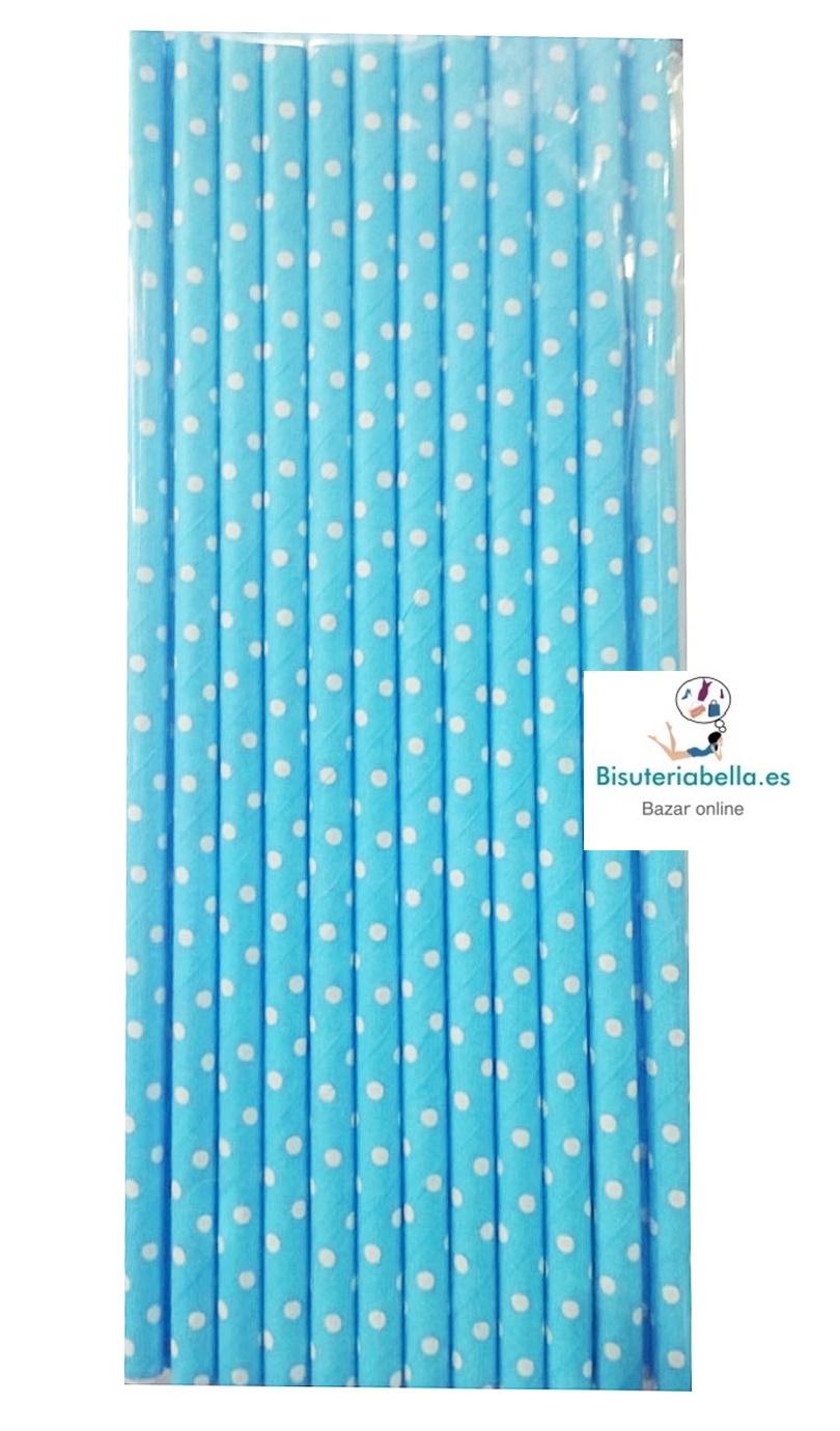 Set 12 pajitas de papel Topos a elegir