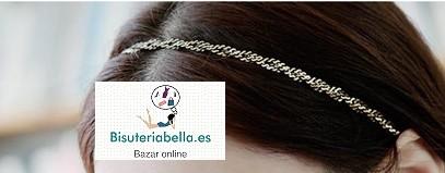 Diadema elastica cadenas finas y doradas ajustable