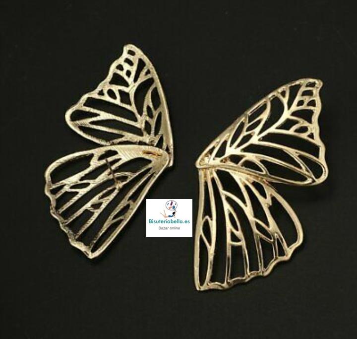 Pendientes silueta mariposa  dorados grande