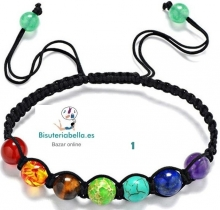 Pulsera ajustable Colores Chakras Piedra natural