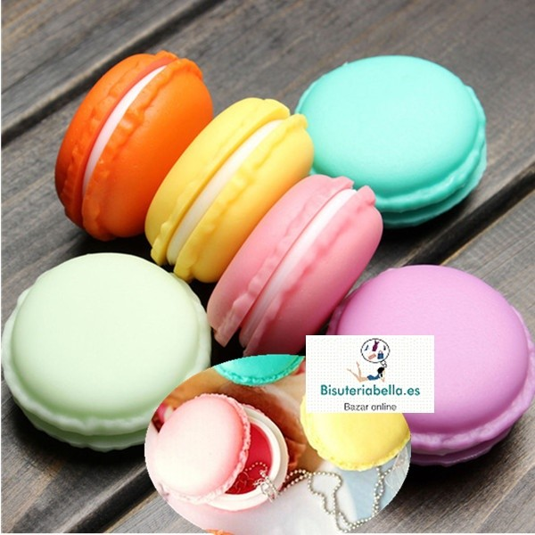 Mini cajas forma Macarons colores a elegir