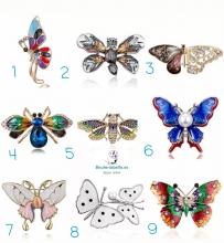 Broche en forma de mariposa a elegir