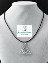 Colgante simbolo Harry Potter Reliquias de la muerte Cordon negro