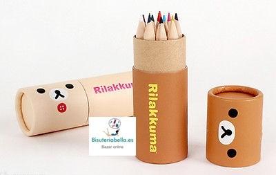 Mini-lapices Set 12 colores Rilakkumma