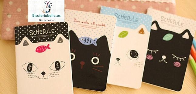 Mini-libretas a elegir Gatitos Schedule
