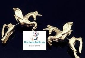 Pendientes ajustables  pequeños en forma de unicornios tonos a elegir
