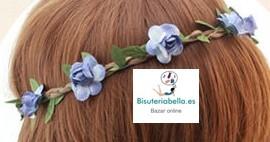 Diadema cinta flores colores a elegir,ajustable