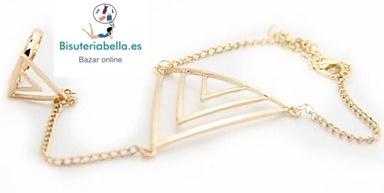 Pulsera-anillo Doble Triangulo a elegir