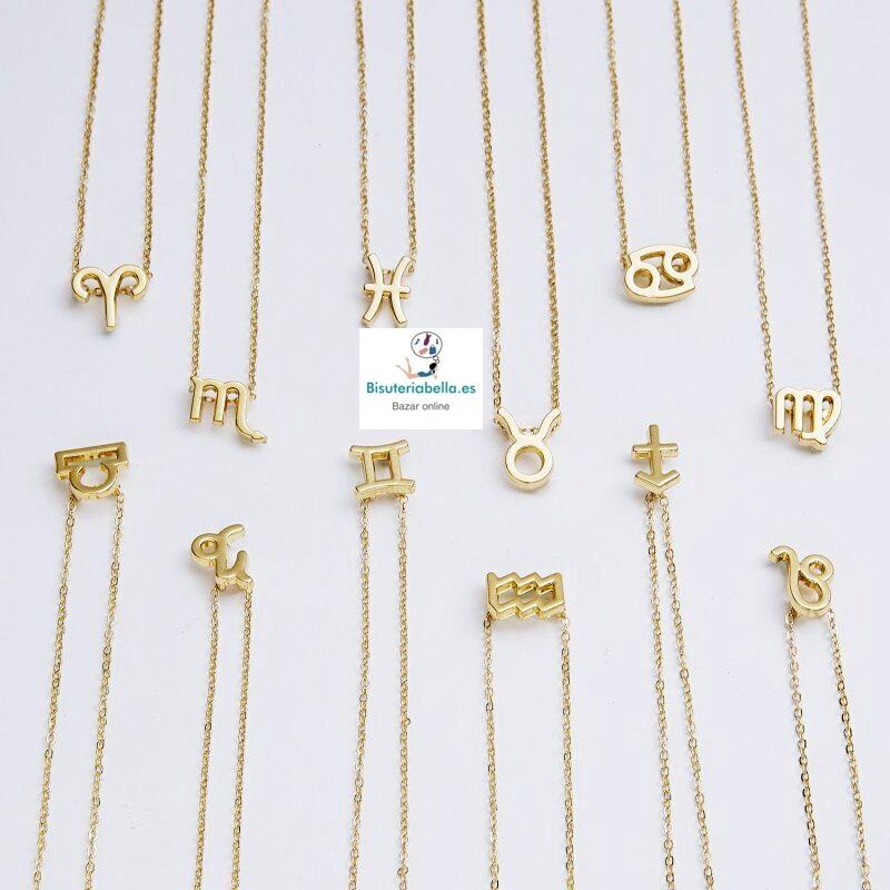 Colgantes dorados Silueta Simbolo Horoscopos