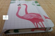 Mini-Libretas flamencos Beautiful blancas
