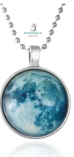 Colgante Camafeo Plateado Luna