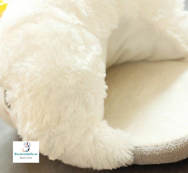 Zapatillas Blancas Unicornio Peluche a elegir