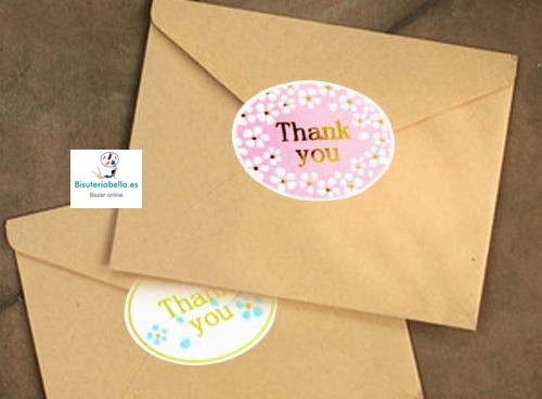 1 hoja Pegatinas para Eventos ''Thank You''
