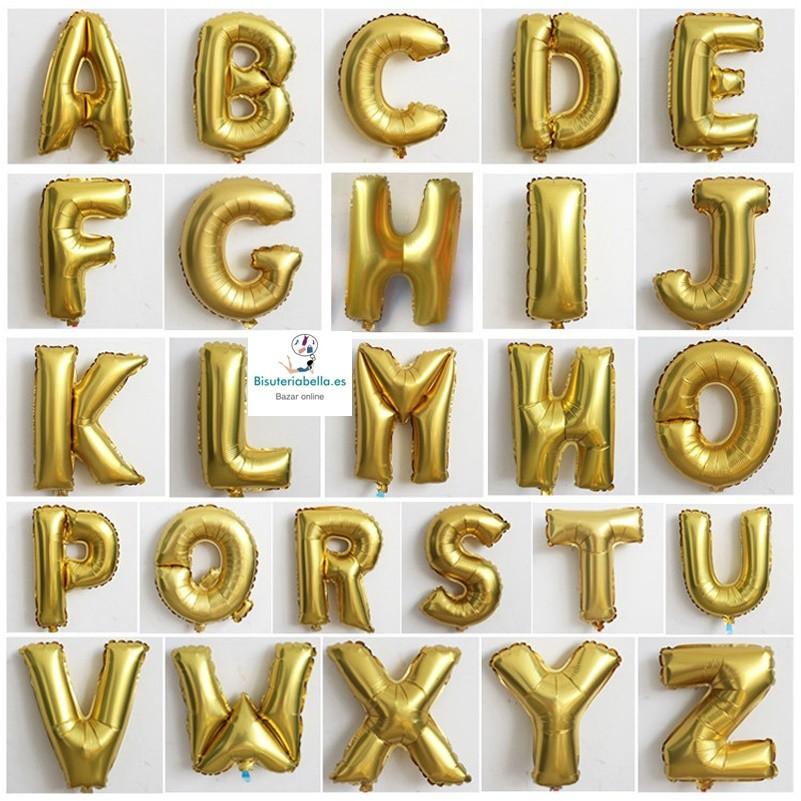 Globos  Letras y números a elegir Dorados o Plateados