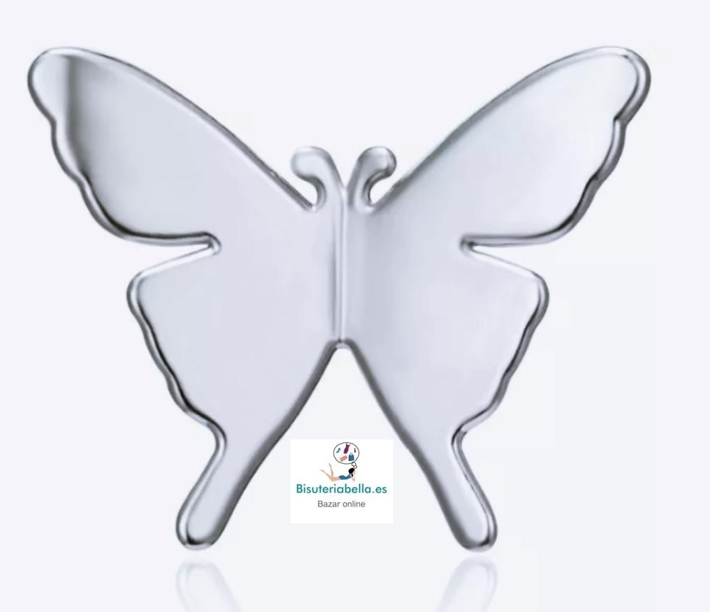 Pin silueta mariposa plateada pequeño